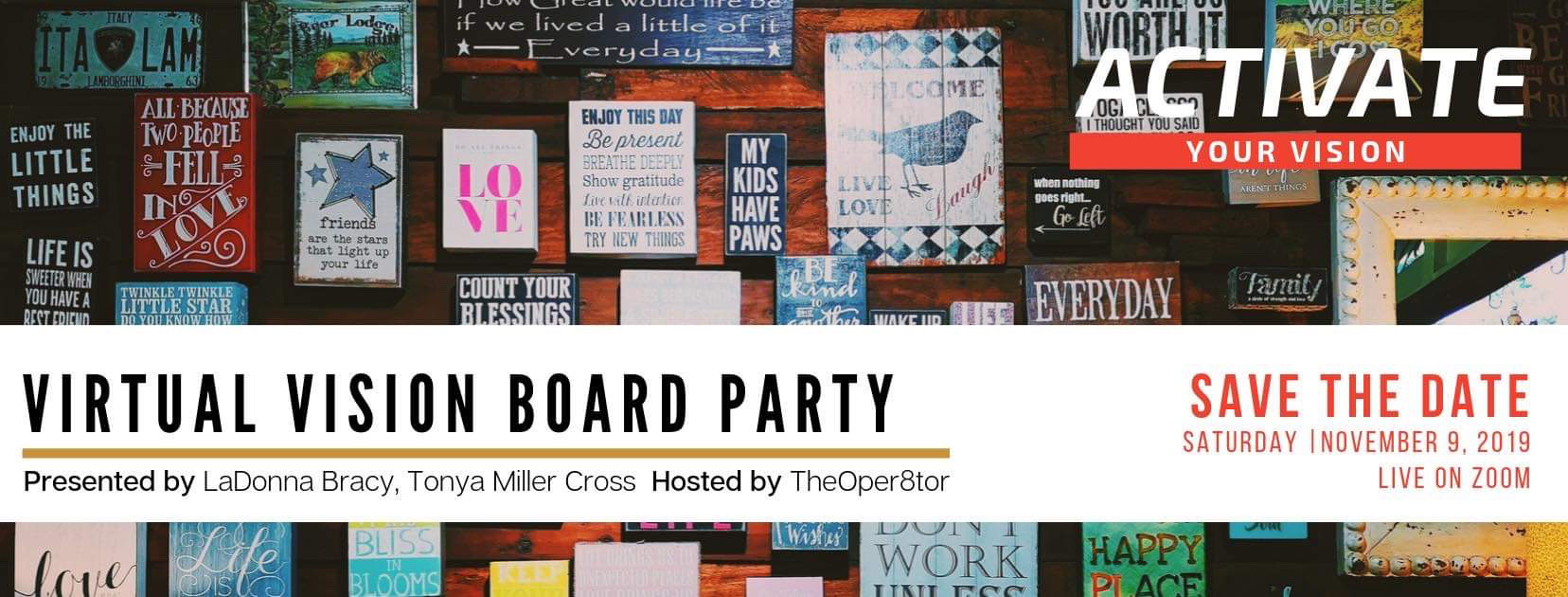 Virtual Vision Board Party, Event For Women Entrepreneurs