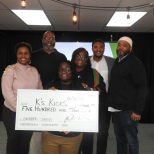 Pitch Winner Kari Johnson with Pitch Judges